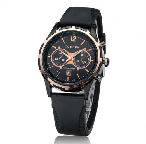 Luxury Mens Silicone Strap Watch