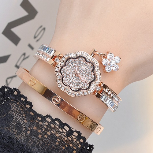 Luxury Stainless Steel Crystals Ladies Watch