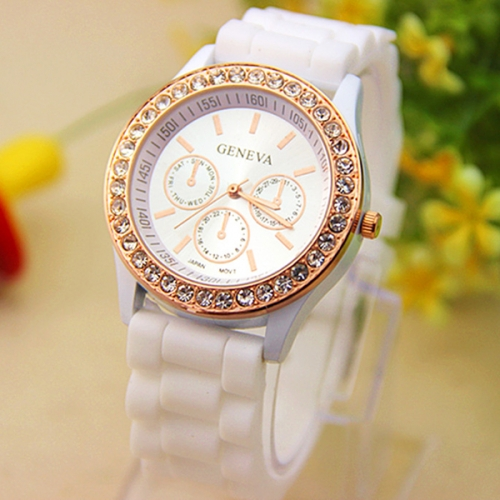 Soft Silicone Strap Ladies Watch