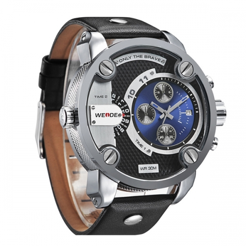 Luxury Men's Leather Strap Watch
