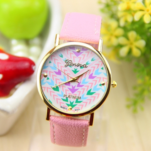Ladies Leather Watch Arrows