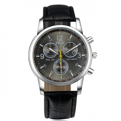 Stylish Men's Leather Watch
