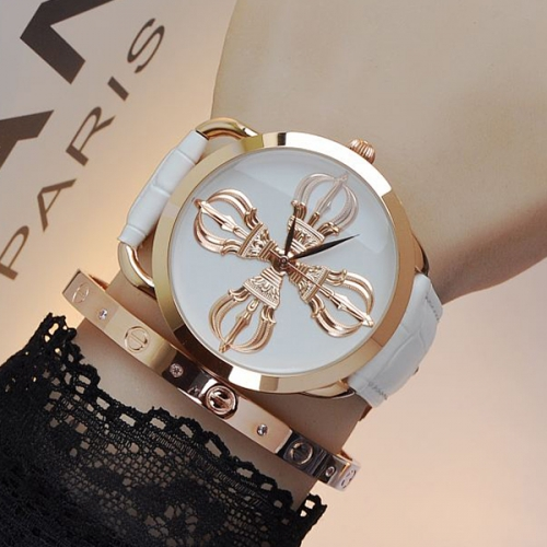 Luxury Leather Strap Ladies Watch