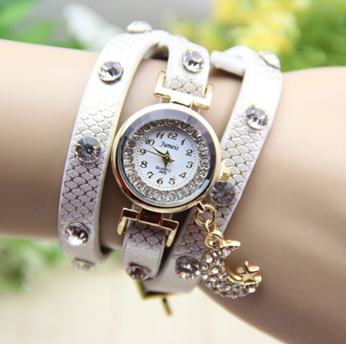 Ladies Leather Watch Moon