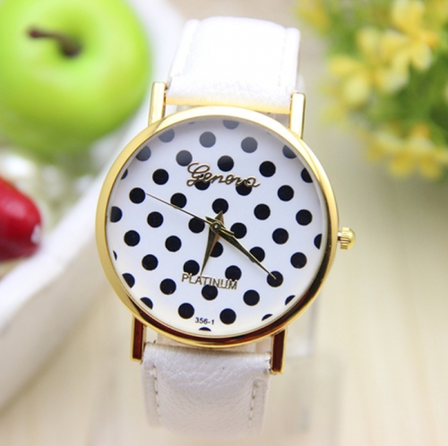 Ladies Silicone Watch Polka Dots