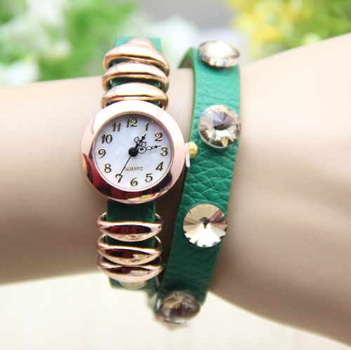 Ladies Leather Watch Rings