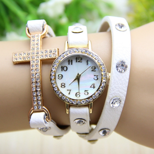 Ladies Leather Watch Cross