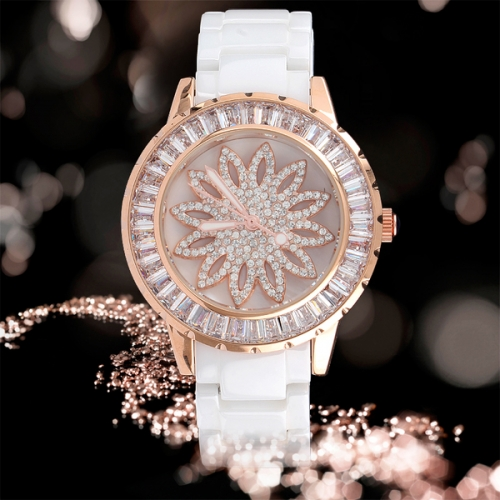Luxury Ceramic Strap Ladies Watch
