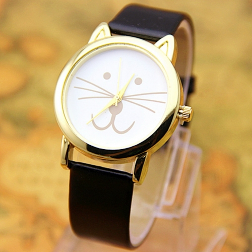 Ladies Leather Watch Meow