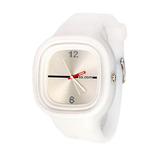 Square Dial Silicone Watch