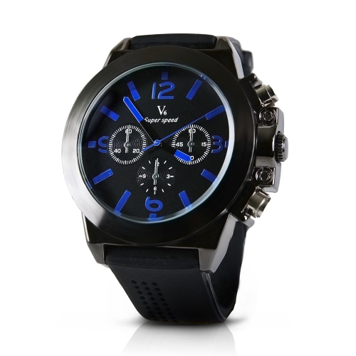 Luxury Men's Silicone Strap Watch