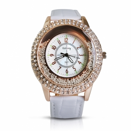 Ladies Leather Watch Pearls
