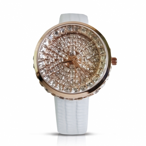 Ladies leather Watch Diamonds