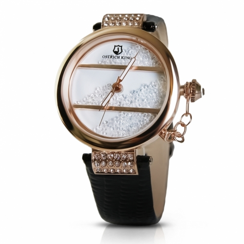 Ladies Leather Watch Crystals