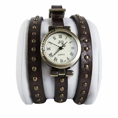 Ladies Leather Watch Studs