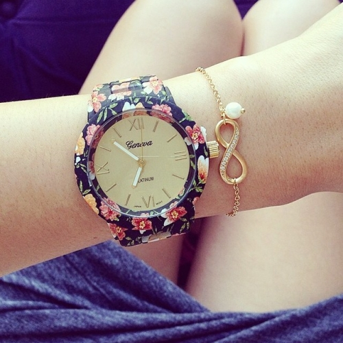 Ladies Watch Flowers
