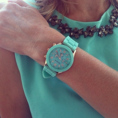 Silicone Ladies Watch Green
